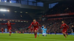 140118 Alex Oxlade-Chamberlain Goal Liverpool Manchester City Mohamed Salah Roberto Firmino