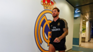 Sergio Ramos, during the medical test of the Real Madrid first preseason day