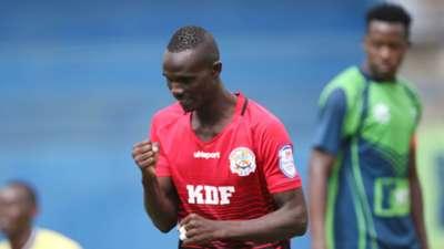 ENOS OCHIENG of Ulinzi stars celebrates v KCB