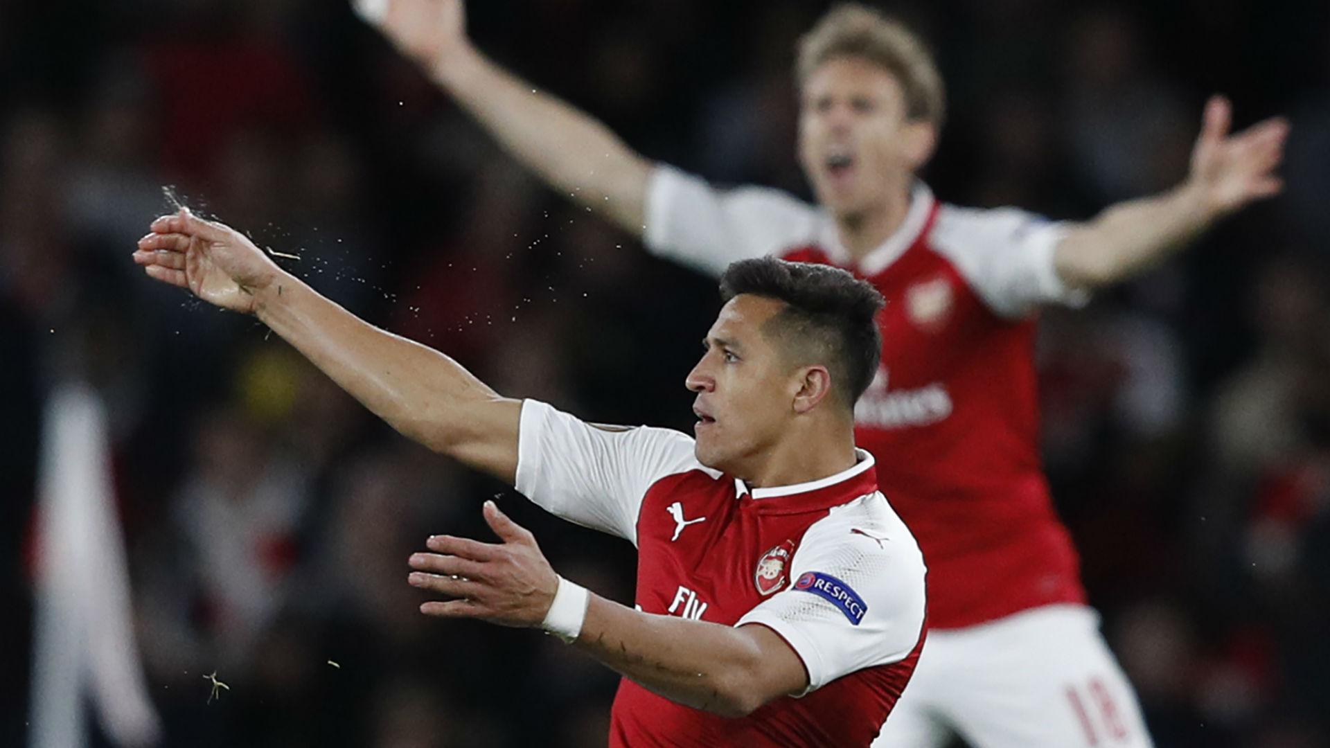 Alexis Sanchez Arsenal Europa League