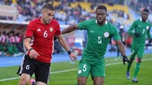 Mohamed Abrahim Aleyat of Libya  Kalu Orji Nigeria CHAN 2018