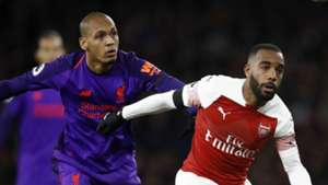 Fabinho Alexandre Lacazette Liverpool Arsenal 2018-19