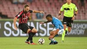 Gonzalo Higuain Allan Napoli Milan Serie A