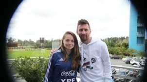 Estefania Banini Lionel Messi Seleccion argentina 31052019