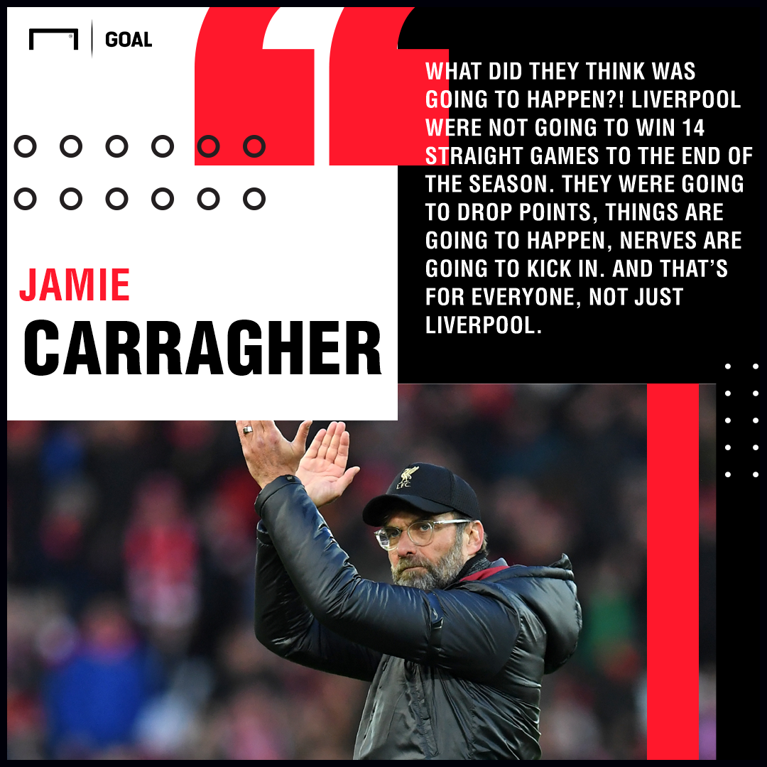 Jamie Carragher quote Liverpool 2018/19