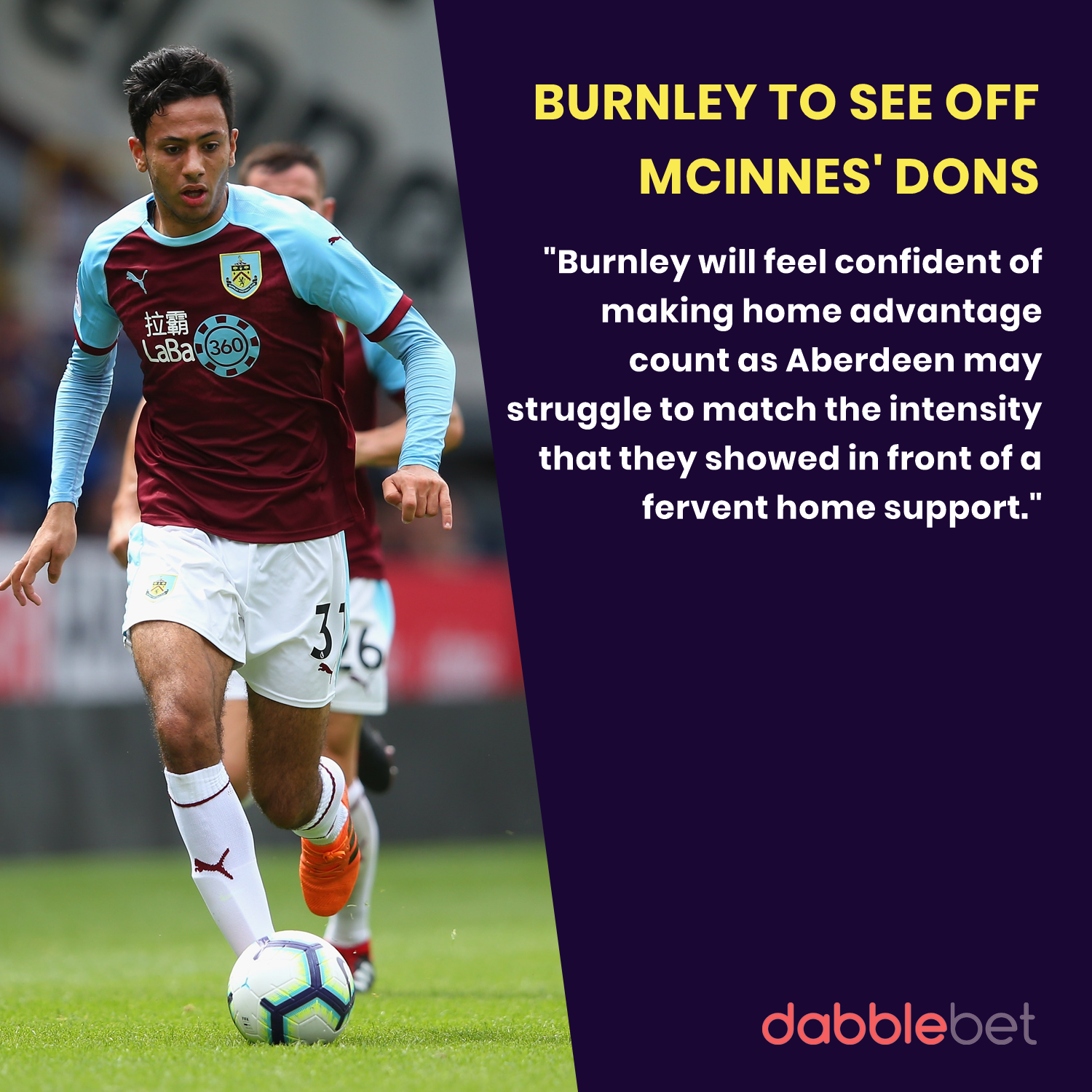 Burnley Aberdeen graphic