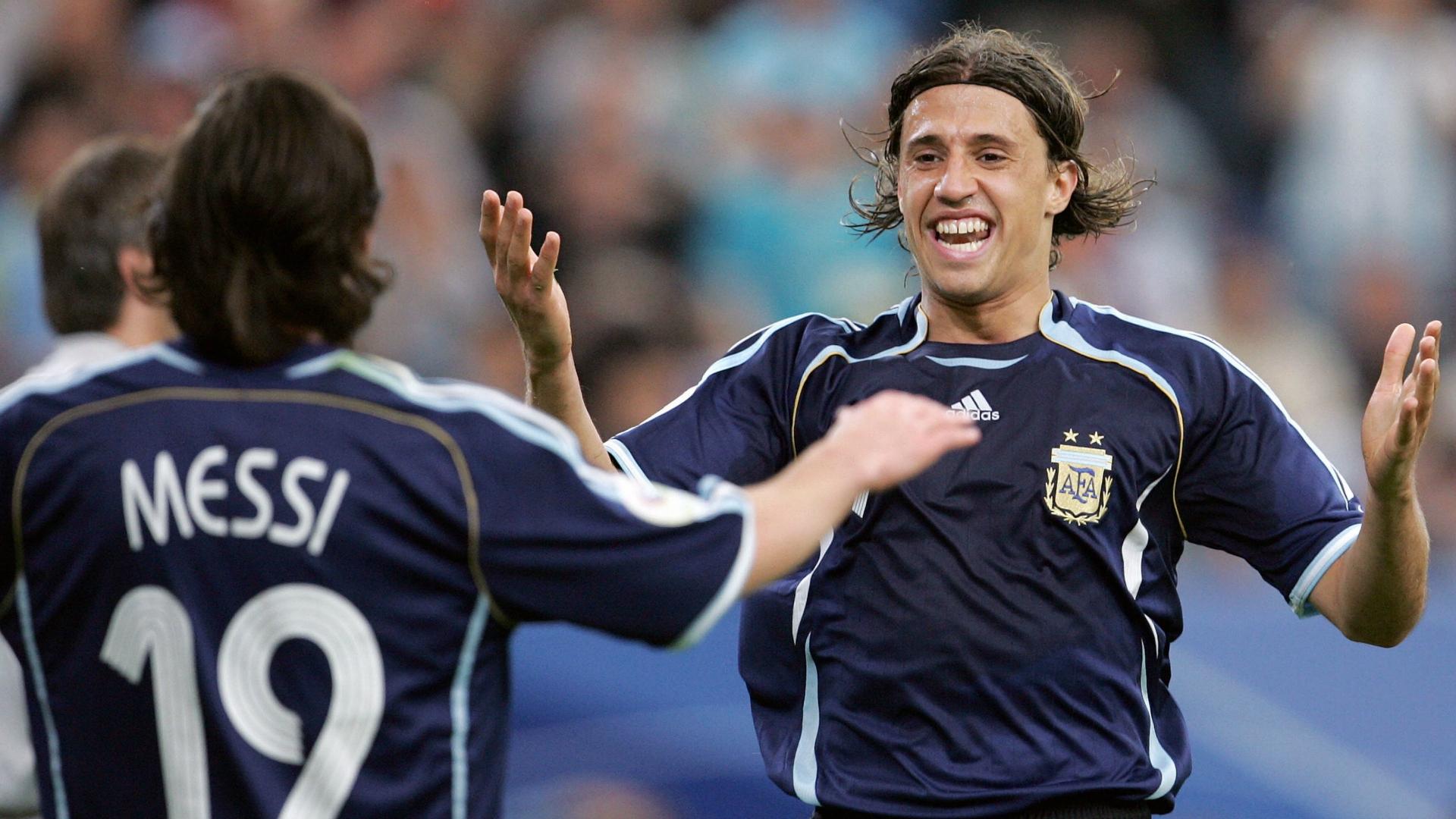 Argentina 2006 Hernan Crespo Lionel Messi