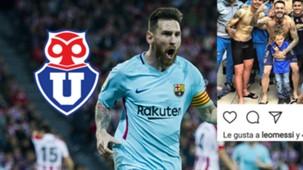 Collage Lionel Messi U de Chile