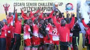 Harambee Stars with Cecafa trophy.