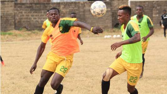 Mathare United players in training.