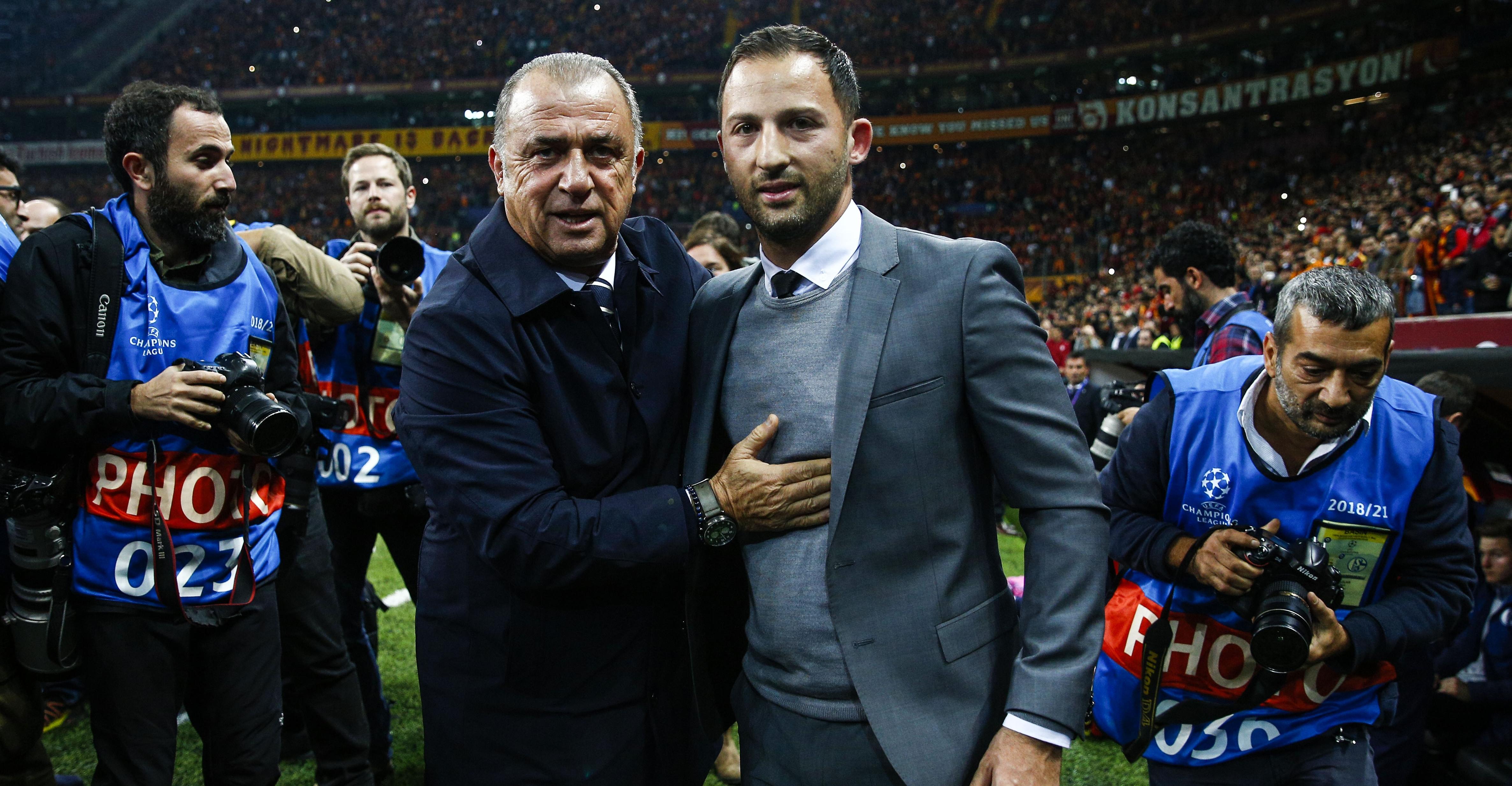Fatih Terim Domenico Tedesco Galatasaray Schalke 04 Champions League 10/24/18