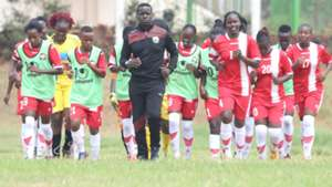Harambee Starlets training for Cosafa