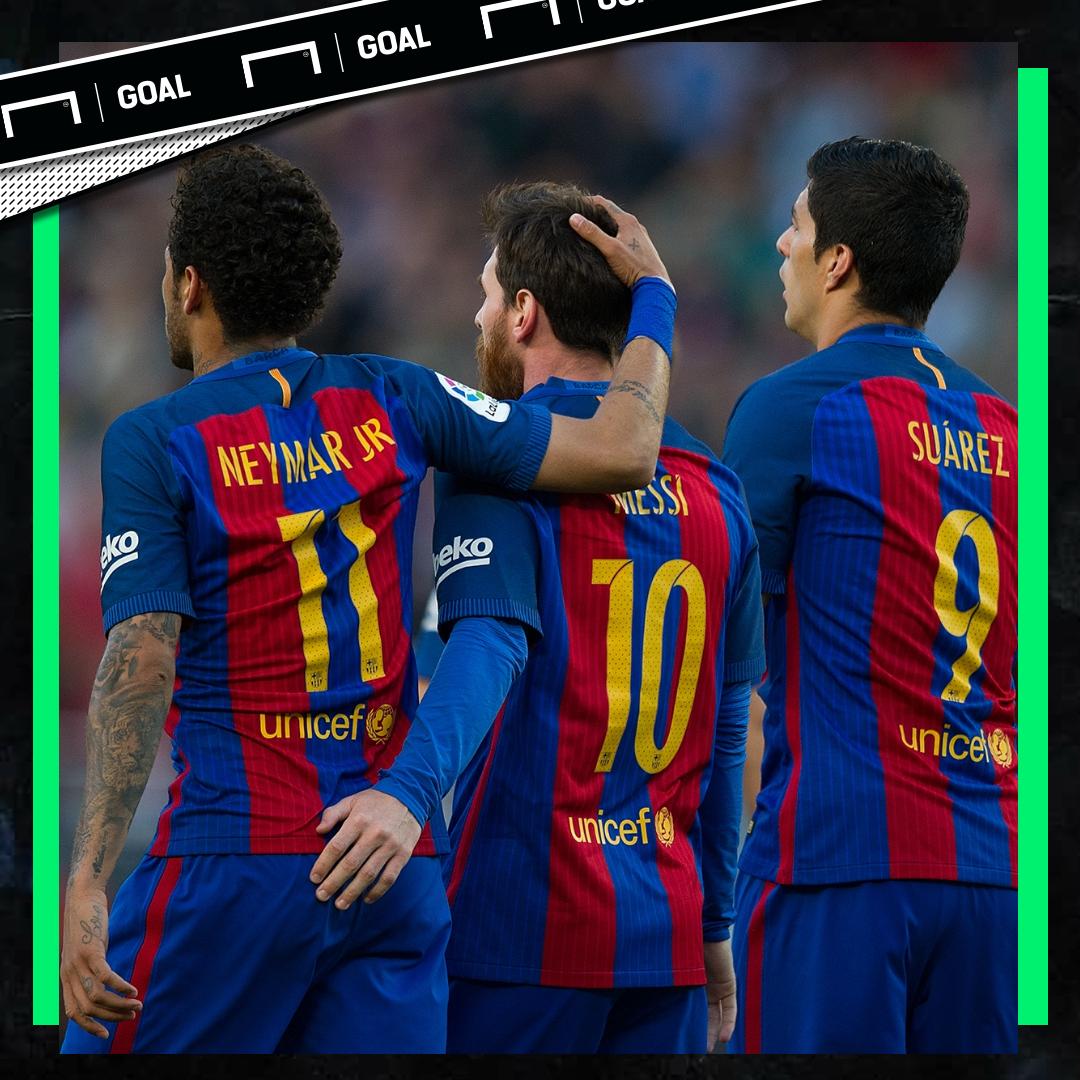 Neymar Lionel Messi Luis Suarez Barcelona PS