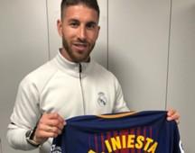 Sergio Ramos Iniesta Real Madrid Barcelona