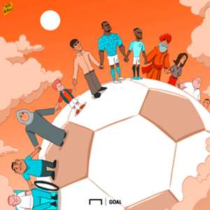 Cartoon Kalidou Koulibaly Raheem Sterling football unites