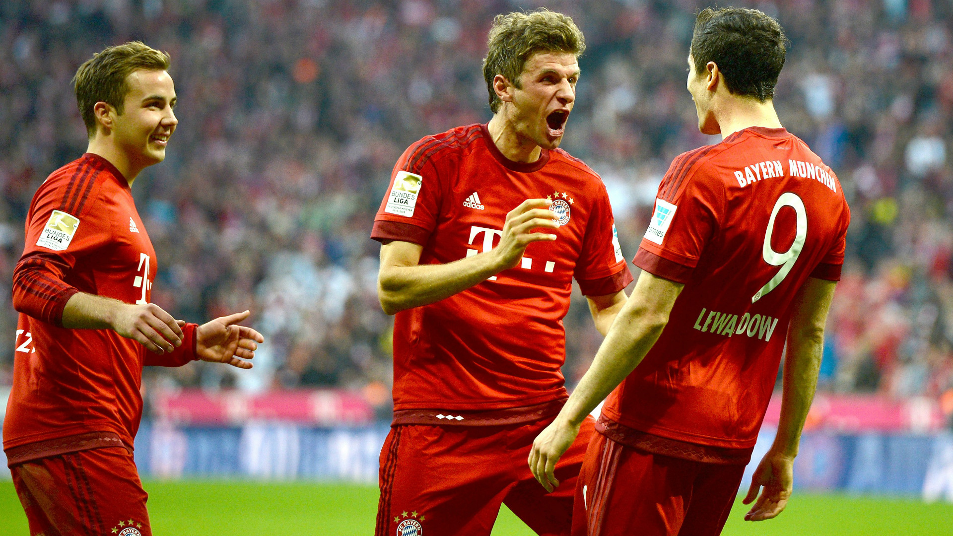 Müller Lewandowski Götze Bayern 2015