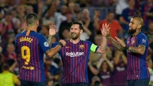 Luis Suárez, Lionel Messi, Arturo Vidal