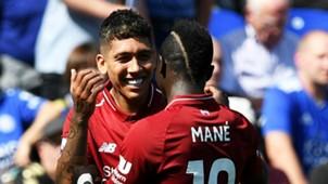 Roberto Firmino Sadio Mane Liverpool 2018-19