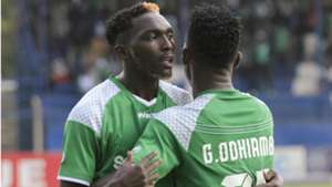 WESLEY ONGUSO and GEORGE ODHIAMBO of Gor Mahia.