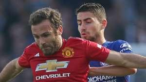Juan Mata Jorginho Man Utd Chelsea 2018