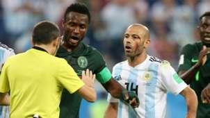 Javier Mascherano John Obi Mikel Argentina Nigeria World Cup 2018