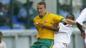 Neil Winstanley of South Africa in the Cosafa Castle Cup game between South Africa and Mauritius played at the New George V Stadium on January 10, 2004