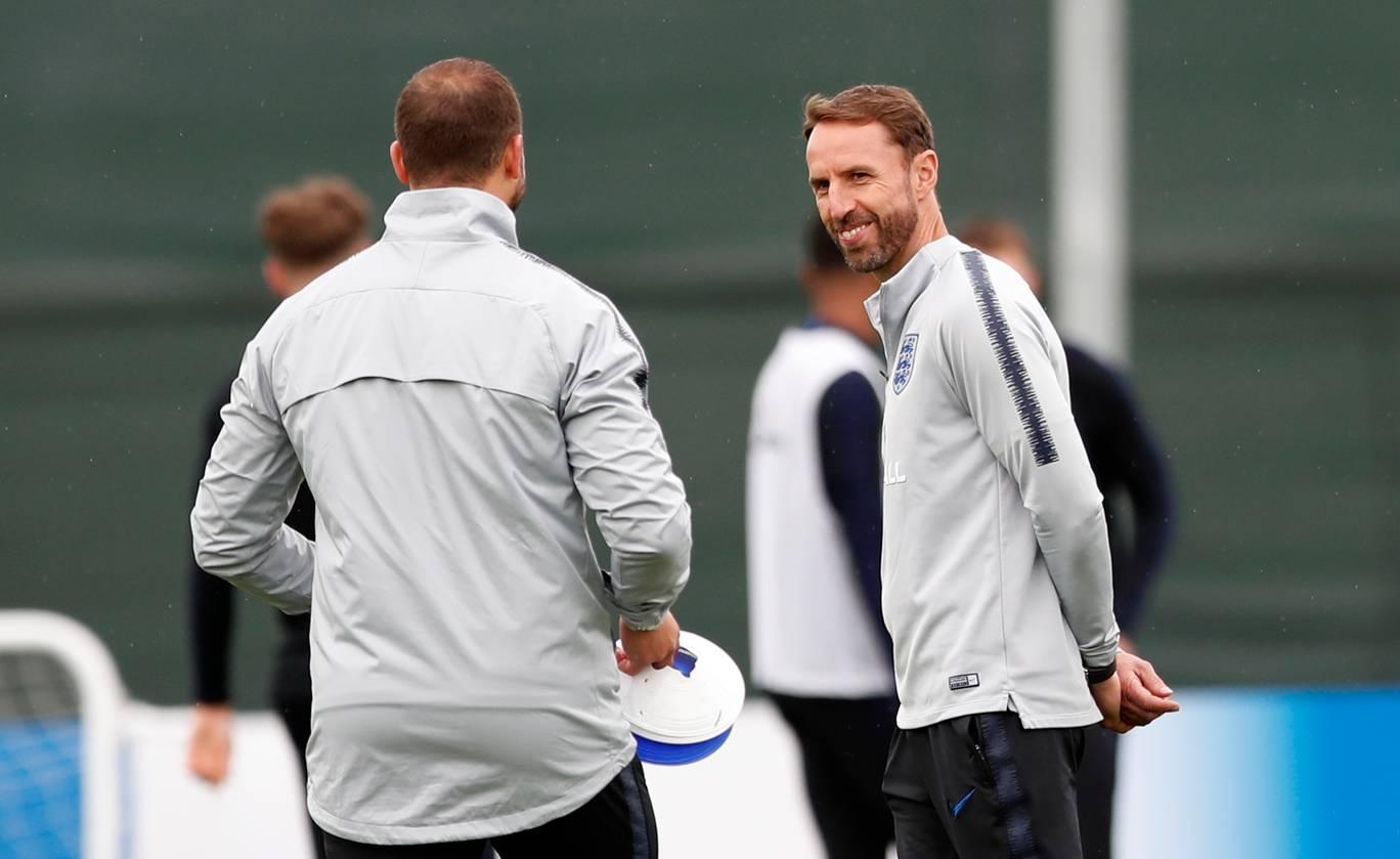 England training ahead of Croatia World Cup 2018