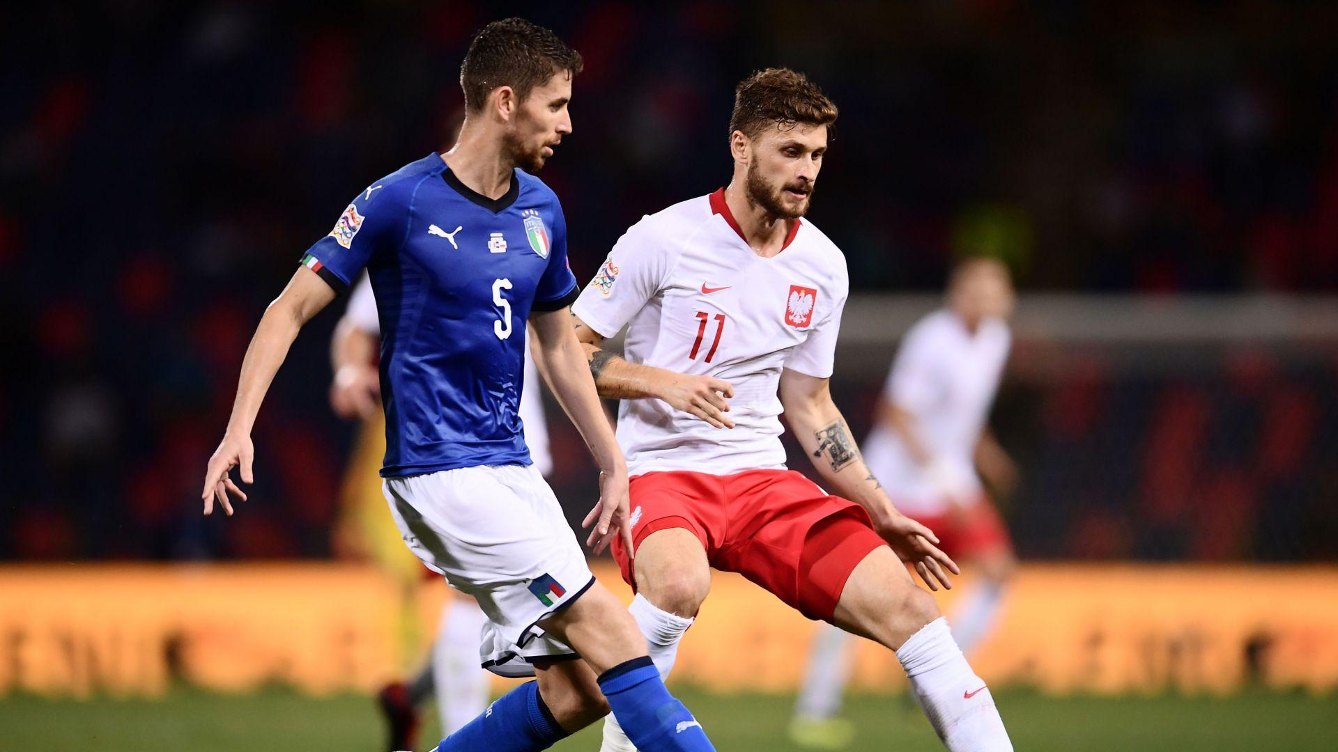 Jorginho Mateusz Klich Italy Poland UEFA National League