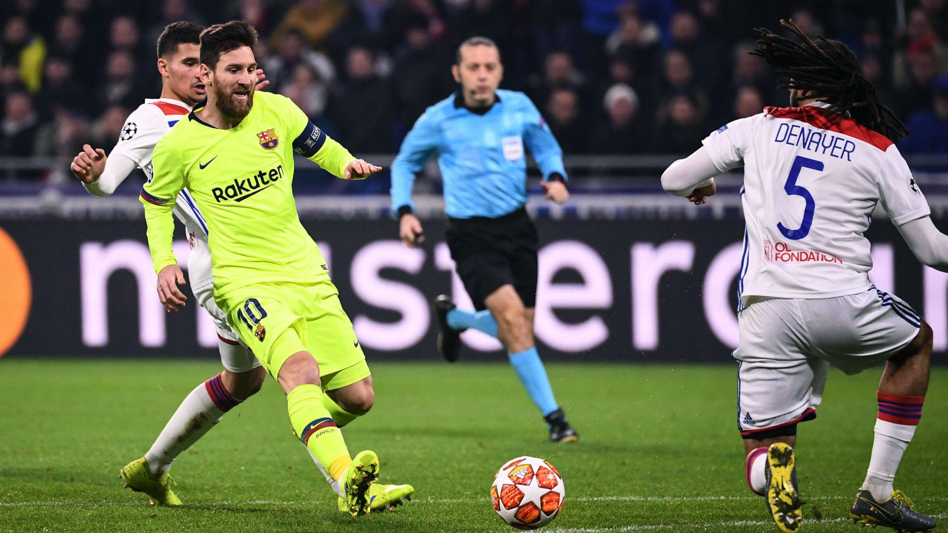 Lionel Messi Jason Denayer Lyon Barcelona Chapions League 19022019