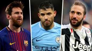 Lionel Messi Sergio Aguero Gonzalo Higuain