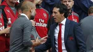 Unai Emery Pep Guardiola Arsenal Man City