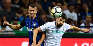 Ivan Perisic Nenad Tomovic Inter Fiorentina Serie A