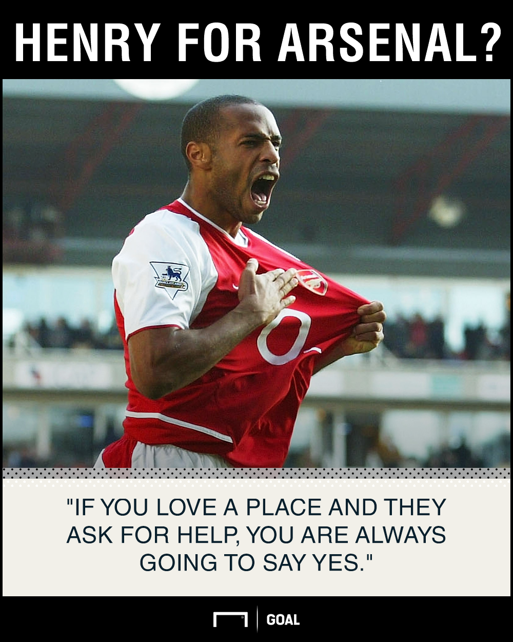 Thierry Henry would accept Arsenal job