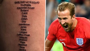 England Fan Tattoo Harry Kane 2018 World Cup