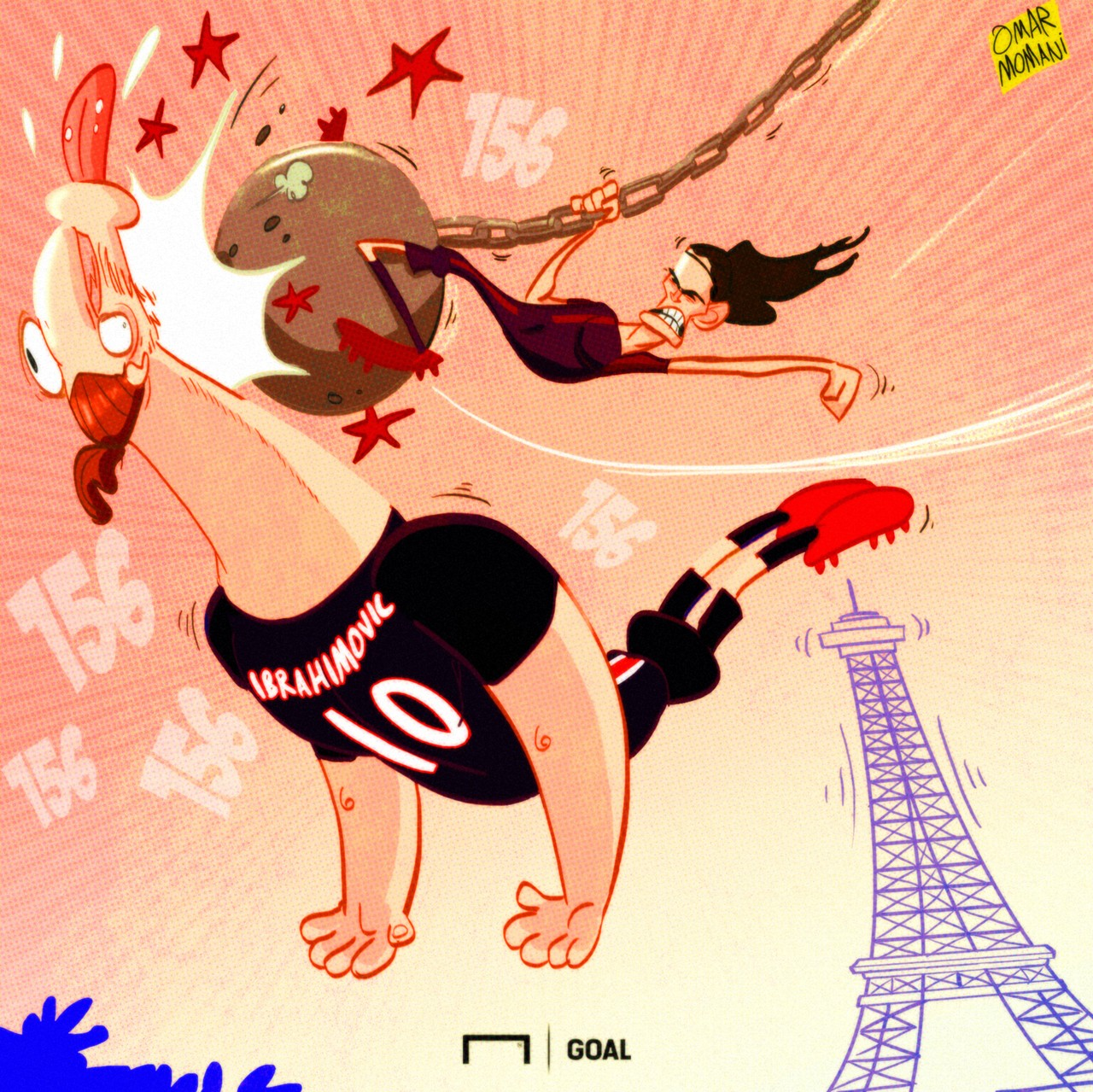 CARTOON Cavani equals Zlatan