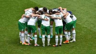 Republic of Ireland huddle v Belgium 18062016