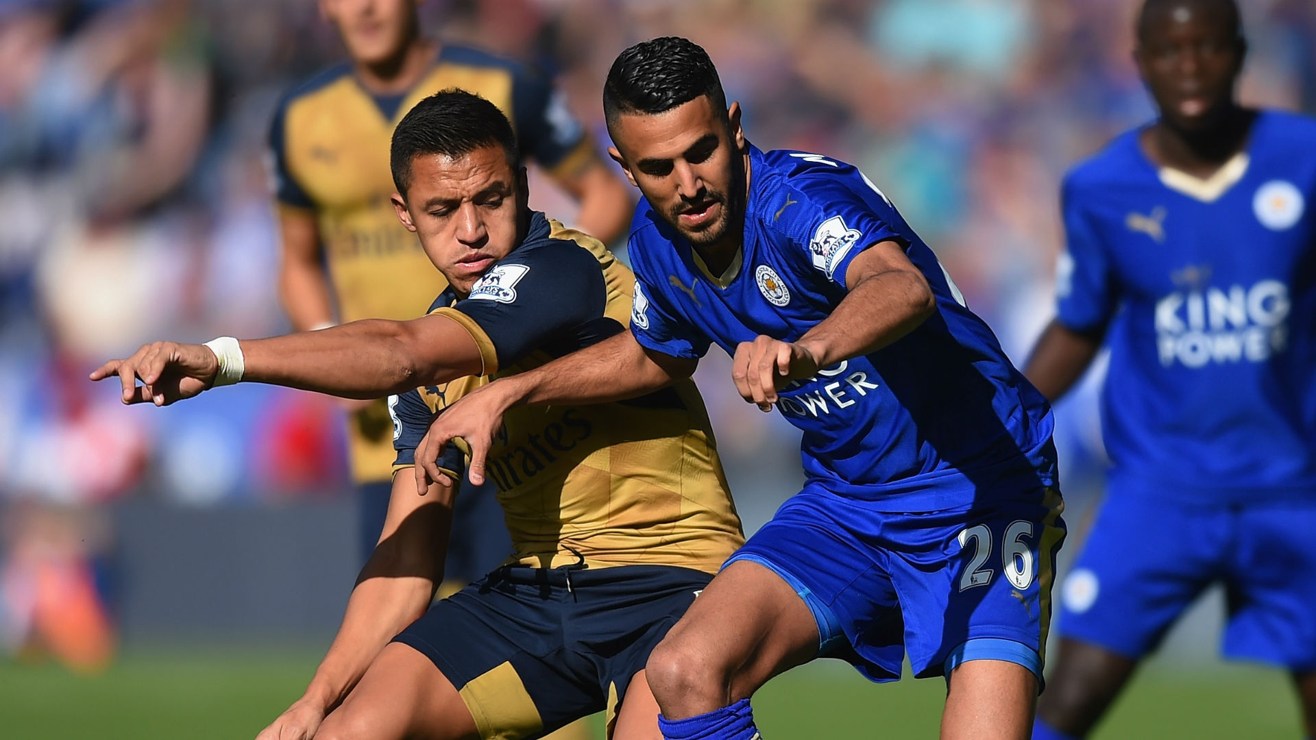 Alexis Sanchez Riyad Mahrez Arsenal Leicester City