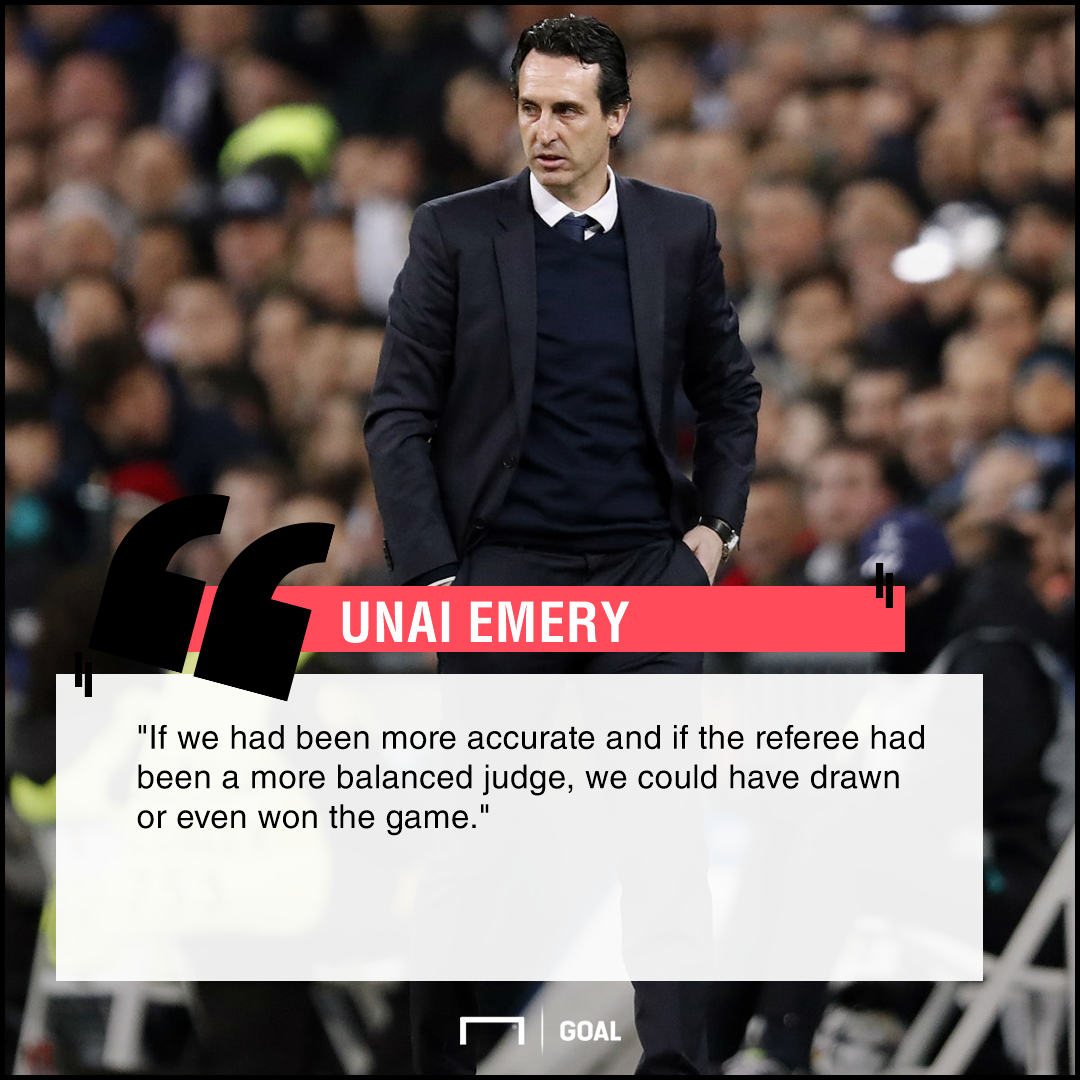 Emery slams referees after PSG collapse against Madrid