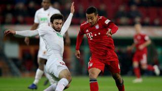 Jan Movarek Thiago Augsburg Bayern Munich Bundesliga 15022019