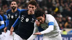 Edinson Cavani Benjamin Pavard France Uruguay Friendly 20112018