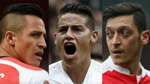 Tridente Arsenal con James