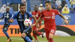 Sebastian Giovinco Victor Cabrera Toronto FC Montreal Impact MLS 10162016