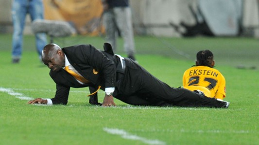 Steve Komphela and Hendrick Ekstein of Kaizer Chiefs