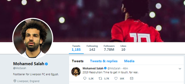 mohamed salah account