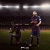 Neymar in Messi shadow GFX