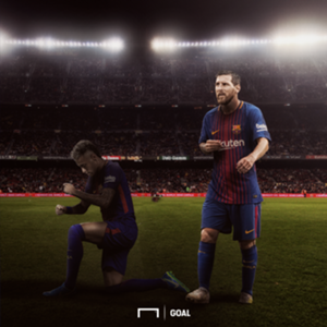 Neymar in Messi shadow GFX