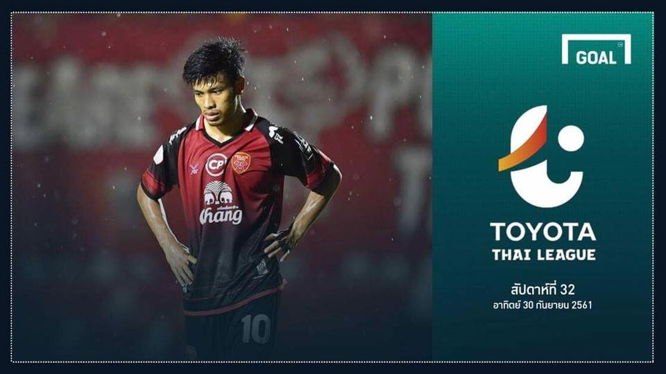 Image result for TOYOTA THAI LEAGUE PREVIEW : นัดที่ 32 (วันอาทิตย์ ที่30 กันยายน 2018)