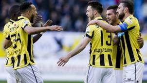 Lewis Baker, Ricky van Wolfswinkel. Guram Kashia, Vitesse, Eredivisie, 0482017