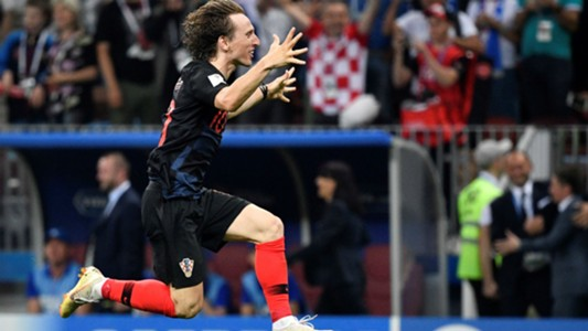croatia england - luka modric celebration - world cup - 11072018