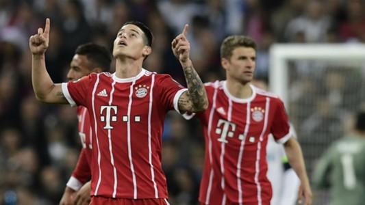 James Rodriguez Bayern Munich Real Madrid UEFA Champions League